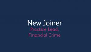 New joiner - Fin Crime